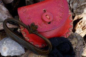 Fire Nested heart fire steel with red ouch by beaver bushcraft