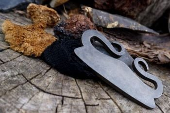 fire viking curl flint & steel striker by beaver bushcraft