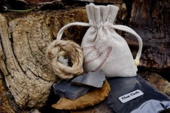 Fire tinerpouch starter kit for beaver bushcraft