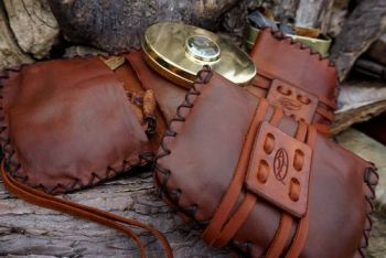 leather pioneering pouches ready 2 go with udson bay tinderboxes by beaver