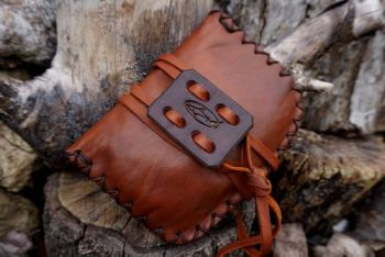 leather pioneering pouches ready to go by beaver bushcraft