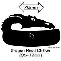 85-1200 Dragon Head Striker bw