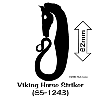 85-1243 Viking Horse Striker (85-1243) bw