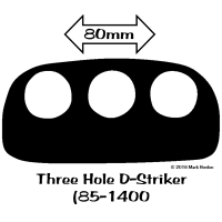 85-1400 Three Hole D-Striker bw