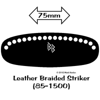 85-1500-BB Leather Braided Striker bw