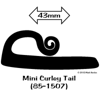 85-1507 Mini Curley Tail Striker bw