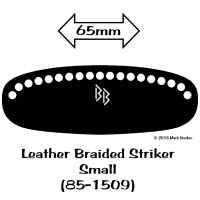 85-1509 Leather Braided Striker - Small bw