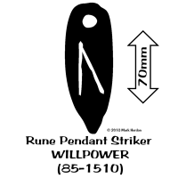85-1510 Rune Pendant Striker - WILLPOWER bw