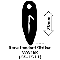 85-1511 Rune Pendant Striker - WATER bw