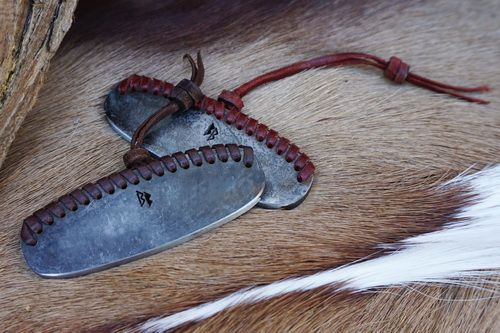Hand Braided/Beaded Leather Striker - Large - Traditional 'Flint & Steel' S