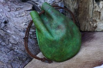 Leather hand dyed dragon skins pouch GOT limited edition by beaver bushcraf