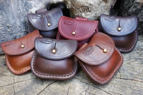 READY-TO - GO - Leather Pocket Mini 'Possibles' Pouch with Belt Loop