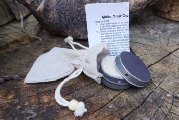 Fire make your own mini char cloth kit with contenst by beaver bushcraft