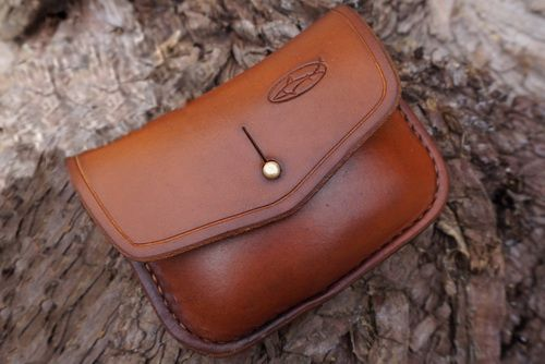 BESPOKE - Hand Stitched Leather 1oz Tin 'Possibles' Pouch - (45-5040)