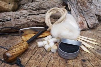 fire new starter ferro rod tinder and canvas pouch by beaver bushcraft.with