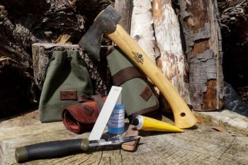 sharpening-generic pic with new tool rolls for beaver bushcraft with mora k