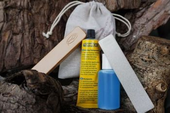 sharpening kit with new pouch 300g for beaver bushcraft