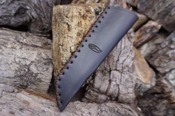 BESPOKE - Leather Bushcraft Knife Sheath for Mora Knives - High Ride - CROSS STITCHED (45-4012)
