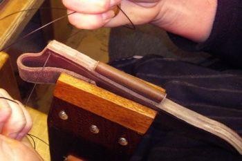 1 leather beaver bushcraft bespoke leather sheaths saddle stitched for webs