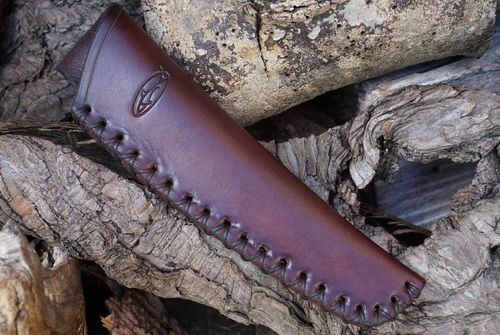BESPOKE - Leather Mora Carving Tool and Small Bushcraft knife Sheath - CROS