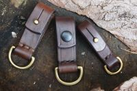 BESPOKE - Quick Release Belt Loop with Solid Brass 'D' Ring in 16mm or 25mm Widths - SADDLE STITCHED (45-7216)