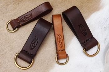 leather bespoke hand stitched belt loops with d ring for beaver bushcraft w