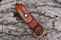 leather ready made belt loop sam browne hazel brown d ring for beaver bushc