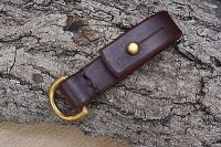 leather ready made belt loop sam browne mahogany d ring for beaver bushcarf