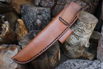 Cutting beaver bushcraft & survival knife reverse side of sheath for websit