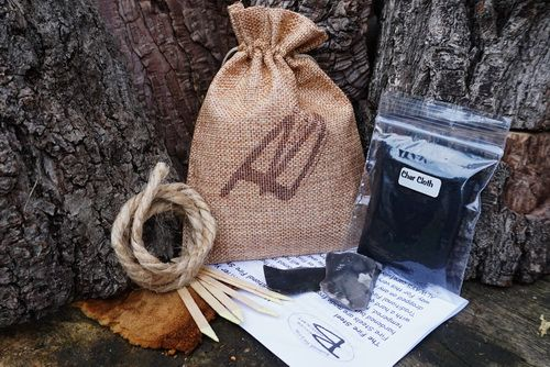 Tinder Pouch Starter Kit for Traditional 'Flint & Steel' Fire Steels (85-00