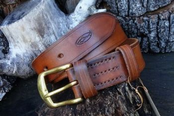 leather ready to go hazel belt made for beaver bushcraft website