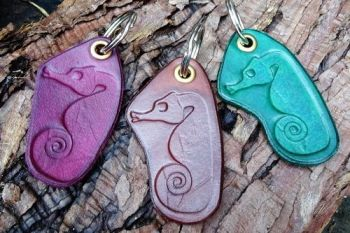 leather seahorse key rings for beaver bushcraft