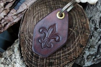 leather scout key ring for beaver bushcraft
