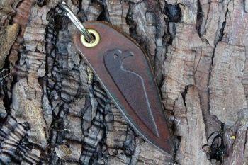 leather viking raven key ring for beaver bushcraft