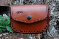 BESPOKE - Gusseted 'Possibles' Leather Belt Pouch - LARGE SADDLE STITCHING (45-5090)