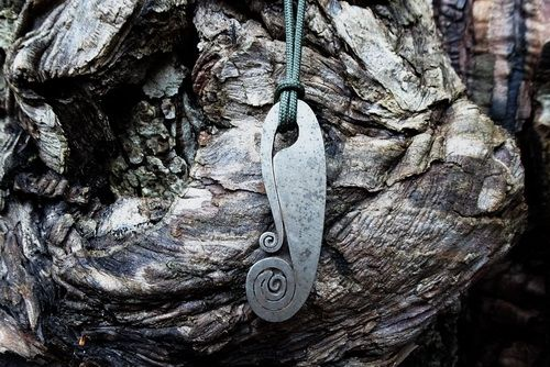 Fiddlehead Striker/Pendant - Traditional 'Flint & Steel' Fire Striker (85-1