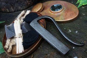 fire copper patina hudson bay tinderbox by beaver bushcraft