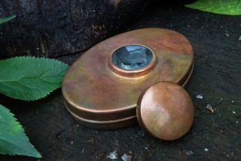 Fire hudson bay Tinder box copper patina with lid by beaver bushcraft