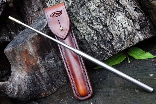 Fire Storm Telescopic Blowpipe & Hand Dyed Leather Case with Belt Loop Comb