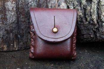 leather hand stitched zippo lighter case in mahogany by beaver bushcraft