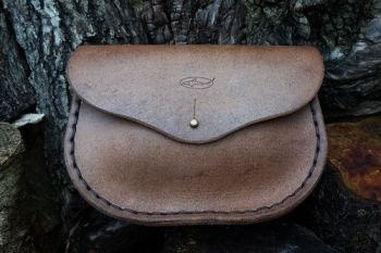 leather man bag and possibles puch by beaver bushcraft