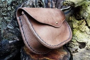 Leather large hand stitched possibles bag and man bag by beaver bushcraft