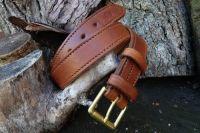 BESPOKE - 100% Hand Stitched Fully Lined Leather 'Navardo' Belt (45-3050)