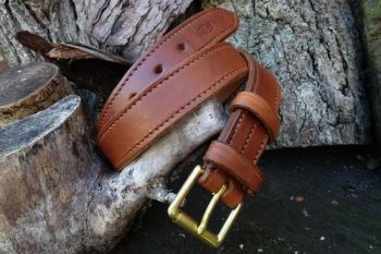 BESPOKE - 100% Hand Stitched Fully Lined Leather 'Navardo' Belt (45-3050)