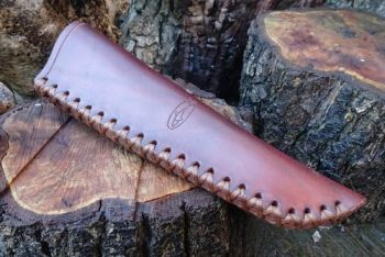 leather mora knife sheath hand stitched by beaver bushcraft