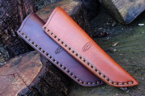 READY-2-GO - Leather Bushcraft Knife Sheath for Mora Knives - High Ride - L