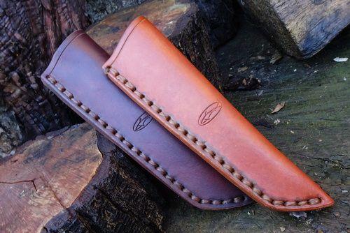 READY-2-GO - Leather Bushcraft Knife Sheath for Mora Knives - High Ride - L