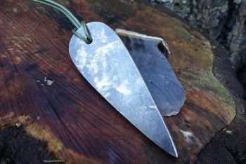 Fire modern tear drop pendant traditional flint & steel fire striker by bea