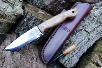 Cutting shark bushcraft knife and hand stitched sheath by beaver bushcraft
