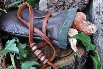 leather medicine pouch by beaver bushcraft in ultra soft glove leather
